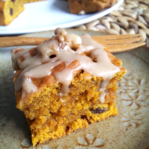 pumpkin cake square